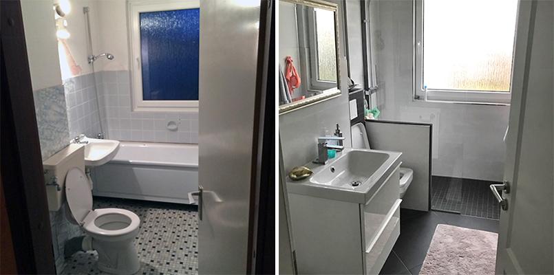 WC-Bad vorher nachher